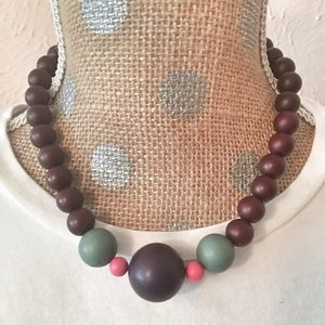 Anthropologie Jewelry - 🎁FREE* Fun necklace w/ pink/navy/green accents