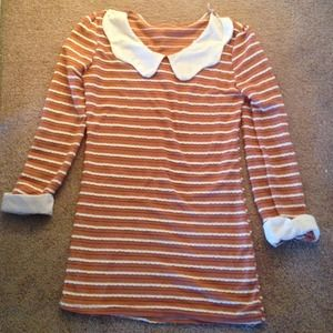 Dresses & Skirts - Peter Pan collar mini shift 60s like dress sz s