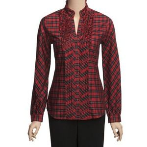 Paperwhite Tops - Paperwhite Tattersall Plaid Shirt