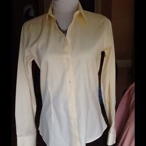 Yellow Wrinkle Resistant Blouse 49