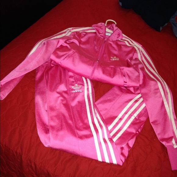 70 Off Adidas Outerwear Adidas Pink Tracksuit From