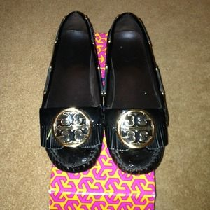ON HOLD!!!! Tory Burch leather moccasins