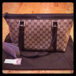 Gucci Crystal Coated Canvas Joy Medium Tote Bag