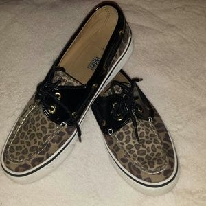 Leopard Sperry Top Siders