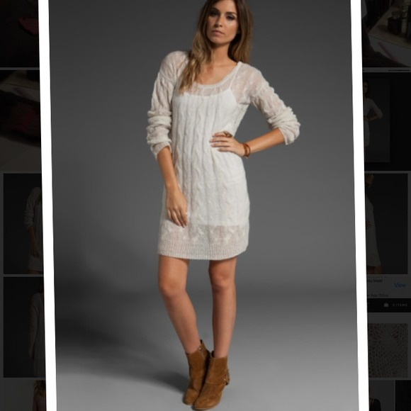 7dd39686a8ba Free People Dresses | Nwt Free Peiple Angel Cable Love Sweater ...