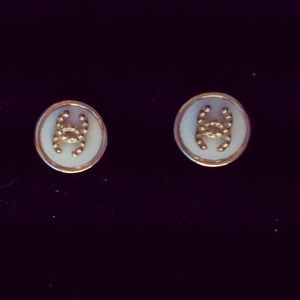 Jewelry - Small Chanel white and gold studs *new*