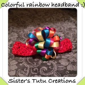 Colorful rainbow headband!