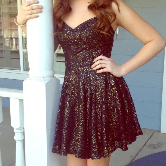 Dresses Black And Gold Dress Prom Dress Poshmark