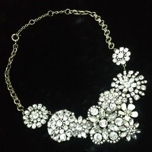 Crystal Lattice Jeweled Statement Necklace
