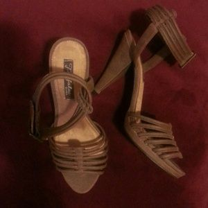 Brown Strappy Sandals by Zara