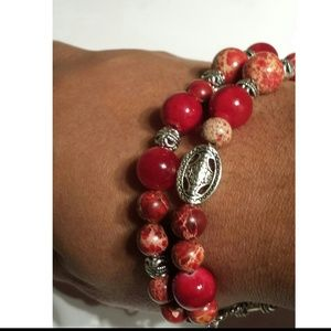 Jewelry - Red and silver bracelet