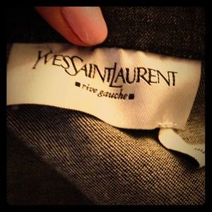 Yves Saint Laurent Charcoal Denim Jacket 38