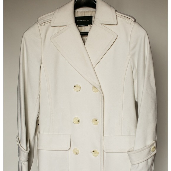89% off BCBG Outerwear - 🔴MOVE SALE🔴BCBG Long Winter White Wool