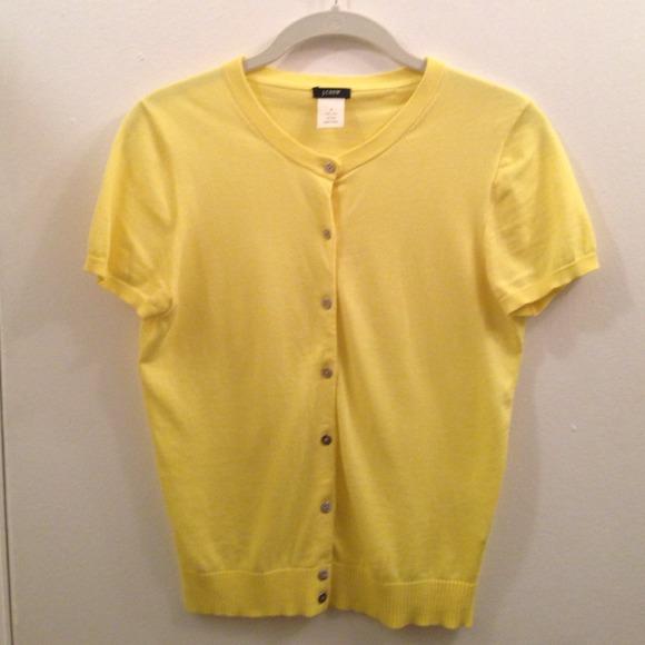 80% off J. Crew Sweaters - Sunny yellow, short sleeve J.Crew ...
