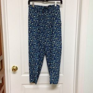 Carol Anderson Collection Pants - Teal print pants