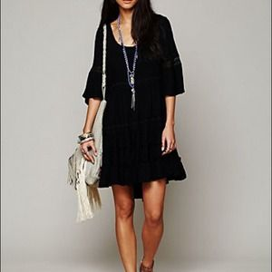 PM Editor Pick! Free People Black Boho Dress