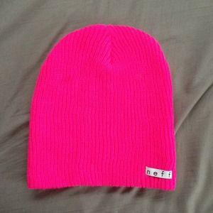 00dd3c41794 Neff Accessories - Neff Bright Pink Daily Beanie