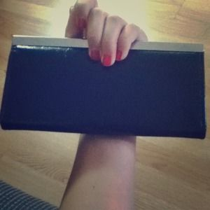 Gorgeous black metallic clutch/wallet!!!