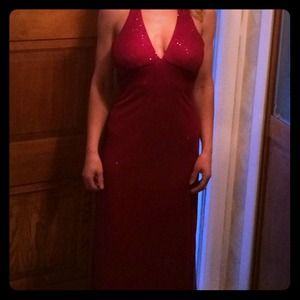 Plum with plum sparkle evening/ Prom dress