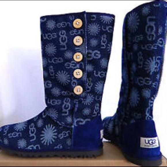 UGG Lo Pro Denim Jacquard Boots