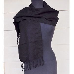 Cashmyarn by Berkshire Accessories - Cashmyarn Black Fringe Scarf