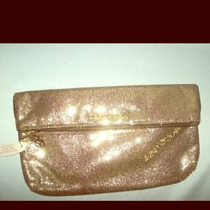 Victoria's Secret Clutches & Wallets - Victoria's Secret gold sparkle clutch