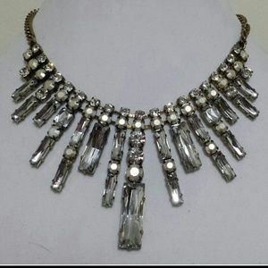 Jewelry - SOLD!!Brass chain with silver and clear beads$10