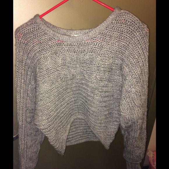 40% off Sweaters - Cropped thick knit off the shoulder sweater ...