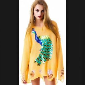 Wildfox Sweaters - WILDFOX PEACOCK LENON SWEATER