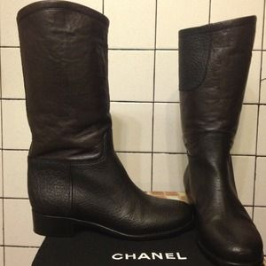CHANEL Boots - chanel authentic moto boots