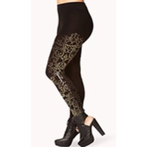 Baroque Embellished Leggings