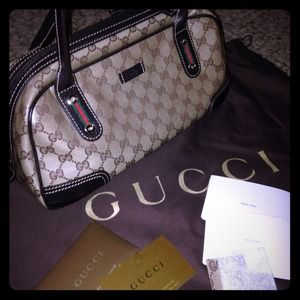 % Authentic Gucci Crystal Joy Boston Bag