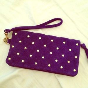 Deep purple small clutch