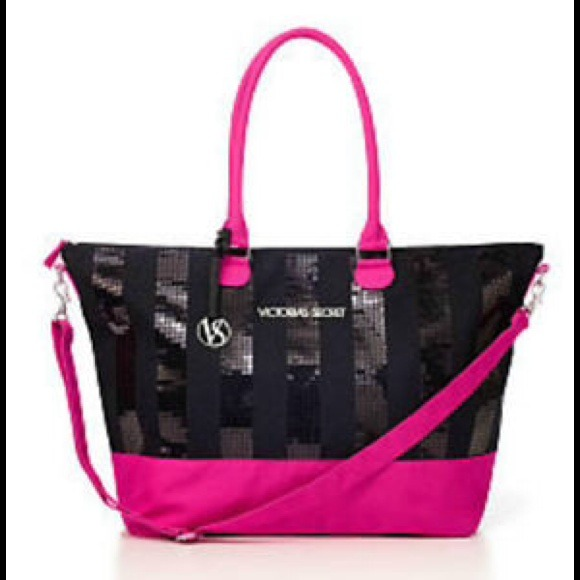 Victoria's Secret - 👜VS Limited Edition black and pink bling tote ...