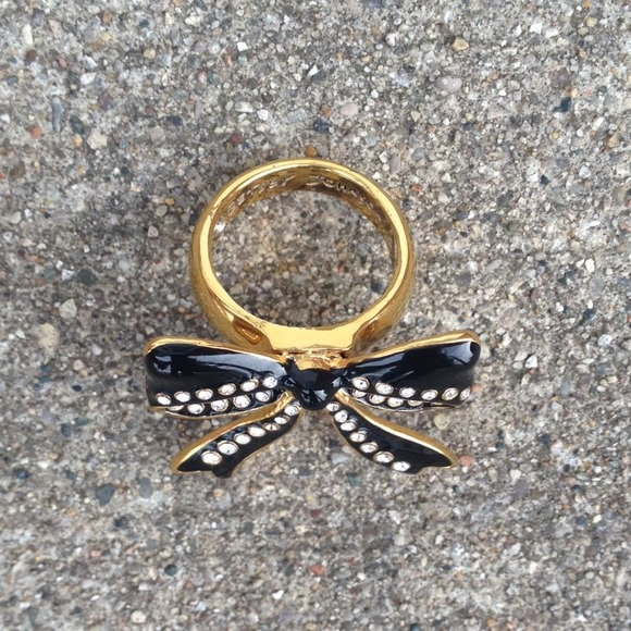 Betsey Johnson Jewelry - ‼️SALE‼️New Betsey Johnson Crystal Bow Ring! 🎀