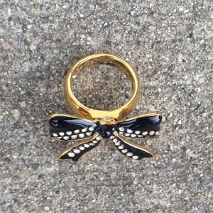 Betsey Johnson Jewelry - ‼️SALE‼️New Betsey Johnson Crystal Bow Ring! 🎀 4