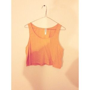 Tops - Orange crop top
