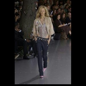 Dolce & Gabbana Navy Zipper Sailor Pants 40IT