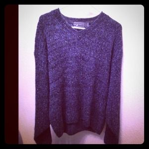 Sweaters - blue knitted sweater