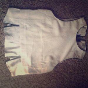 Zippered bottom shirt/ vest