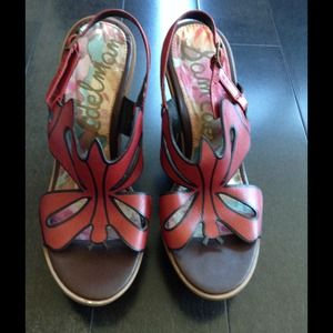 NWOT Sam Edelman butterfly wedges!!