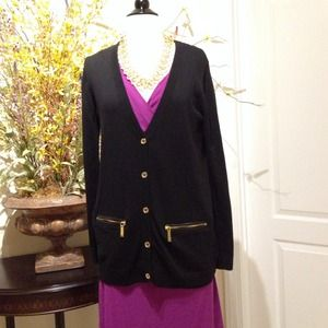 Michael Kors Black 5-button Cardigan