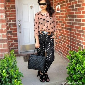 Forever 21 Tops - Sheer polka dot blouse