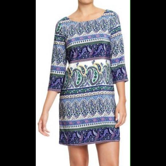 4665f624b98a Old Navy paisley print shift dress. M 52a63ae0b539e448cd0b8ae6