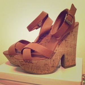 Forever 21 Shoes - Strappy Platform Heels