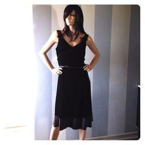 Marc Jacobs Dark Chocolate Velvet & silk Dress 10