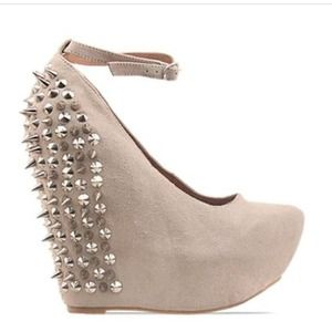 Jeffrey Campbell Aubrey spike in nude