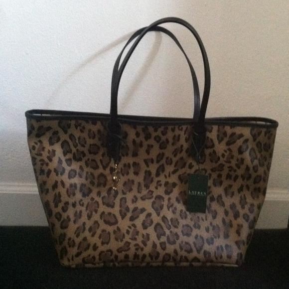 c0ef034272 Lauren Ralph Lauren Caldwell Leopard tote!