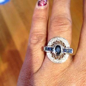 Jewelry - Gorgeous 14 karat Sapphire and Diamond Ring!