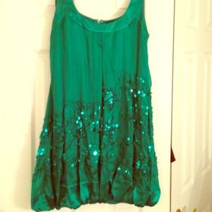 Bebe green ✨sequin✨🎉 party dress 🎉